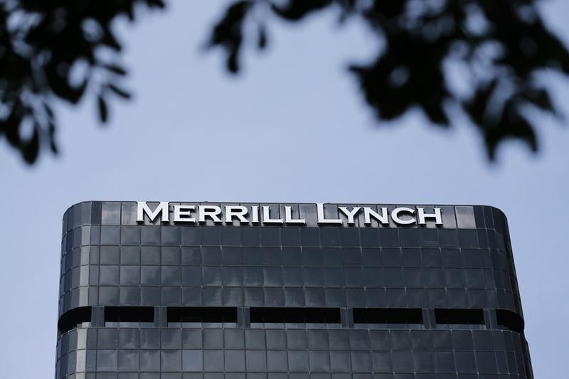 A Merrill Lynch building is shown in downtown San Diego, California