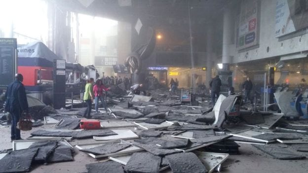 explosions in Brussels