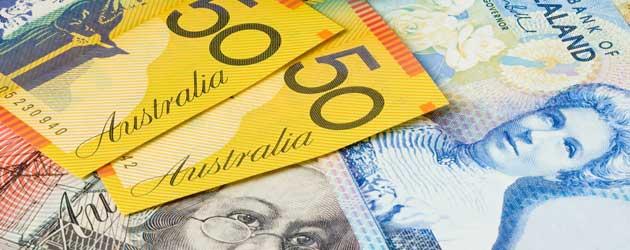 Australian and New Zealand dollars