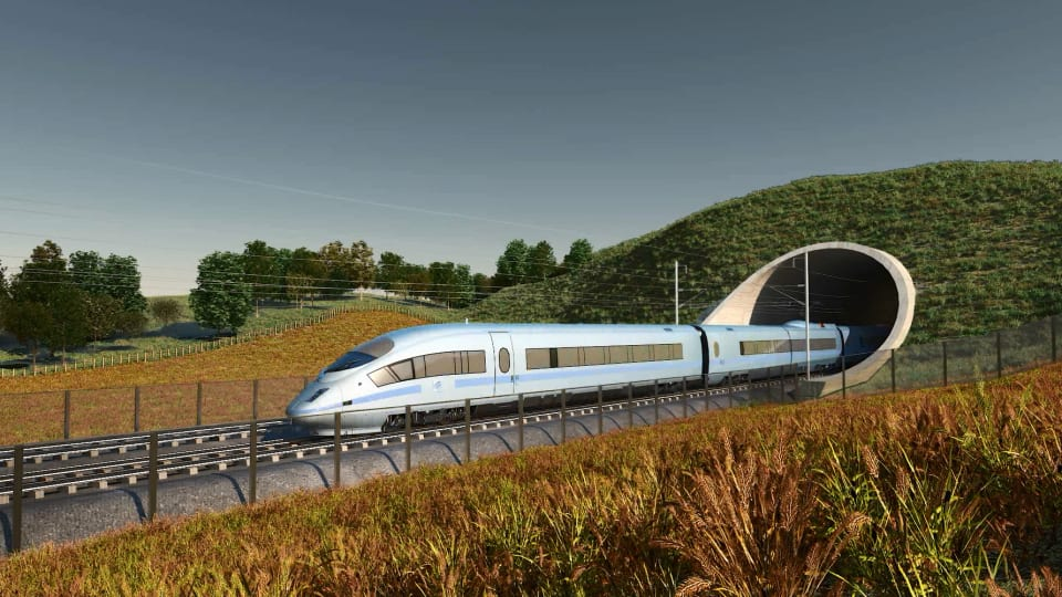 high speed train uk